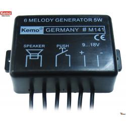 Generatore alta potenza 6 melodie successione campanello allarme 9-18V DC 5W