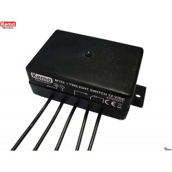 Interruttore sensore crepuscolare esterno interno 12V DC uscita a relè