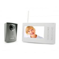 """KIT Videocitofono digitale wireless 100m monitor piatto a colori 7"""", unità esterna Avidsen"""
