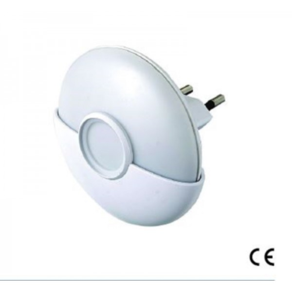 Luce notturna a led con crepuscolare luce e bianca calda for Led luce bianca