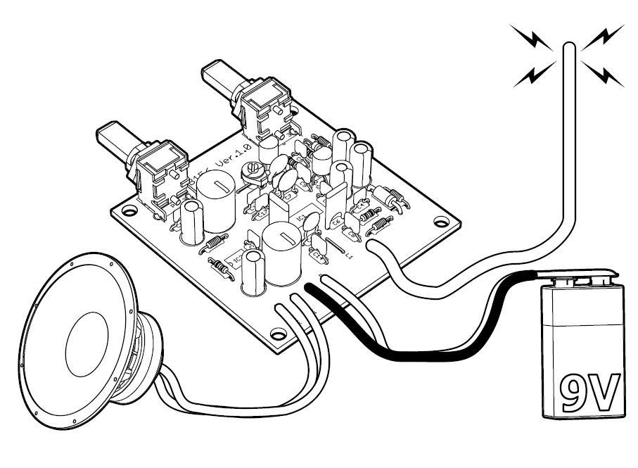 kit ricevitore sintonizzatore radio fm 87  u2013 108 mhz 9v dc
