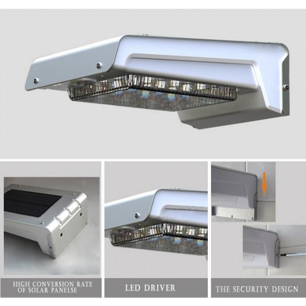 Lampada-LED-Solare-a-Muro-da-Esterno-con