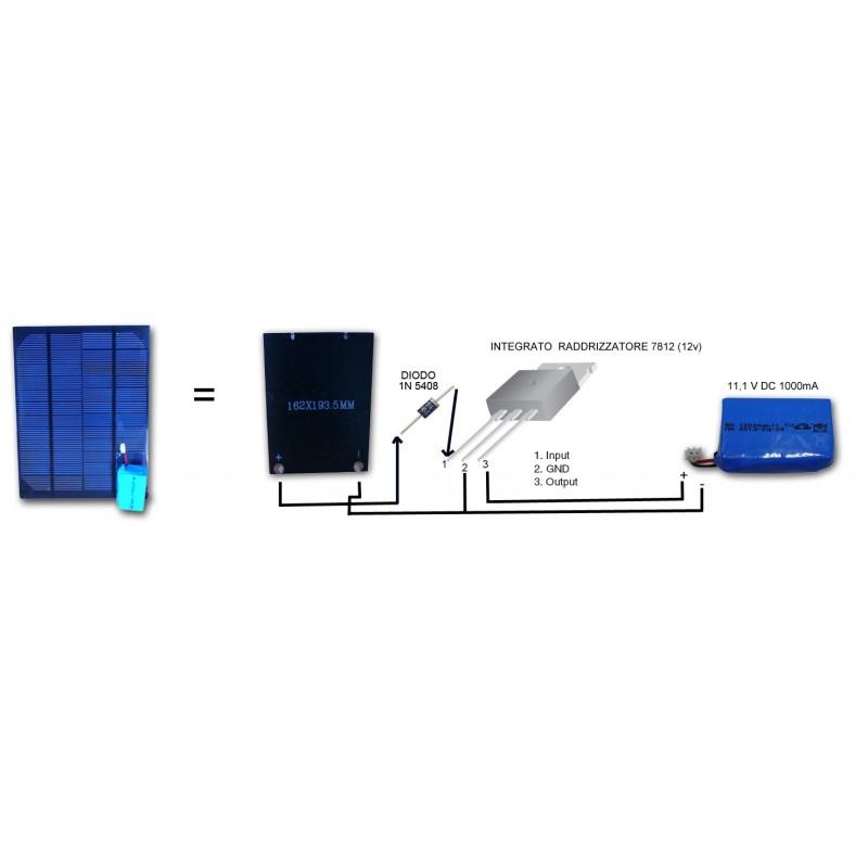 Regolatore Del Pannello Solare : Kit mini pannello solare fotovoltaico v diodo regolatore