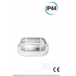 Plafoniera da muro ovale supporto e griglia colore bianco Electraline 65004