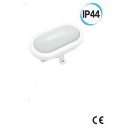 Fanale LED per esterno ovale supporto 169 X 115 colore bianco Electraline 65005