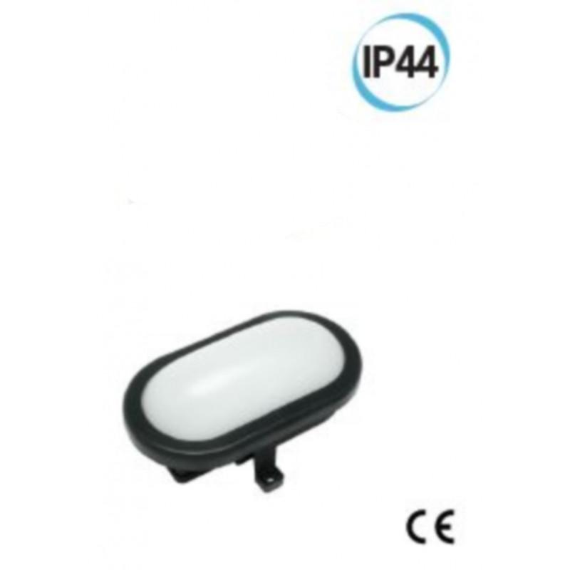 Fanale LED per esterno ovale supporto 169 X 115 colore nero Electraline 65007