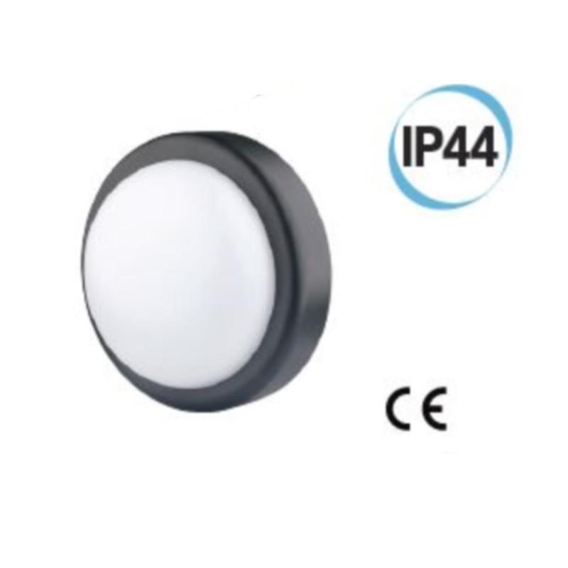 Fanale LED per esterno tondo supporto D 197 colore nero Electraline 65008