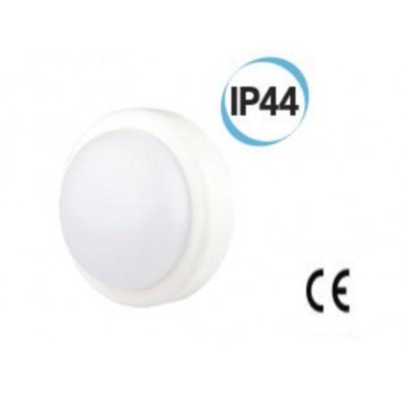 Fanale LED per esterno tondo supporto D 197 colore bianco Electraline 65006