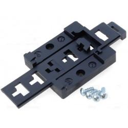 Supporto universale aggancio barra DIN in plastica regolabile max 80mm