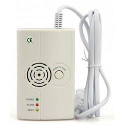 Detector de fugas de gas metano y GLP con sirena de 75db y transmisor inalámbrico FR575