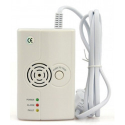 Methane and LPG gas leak detector with 75db siren and FR575 wireless tx