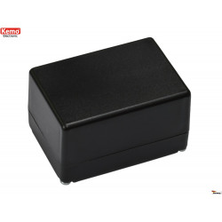 Mini black plastic container 72x50x42 mm opening 4 screws