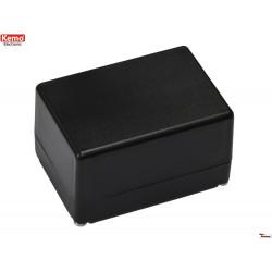 Mini contenedor de plástico negro 72x50x42 mm apertura 4 tornillos