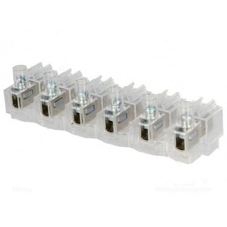6 x Morsetto a vite 0.75...4mm con doppio connettore FASTON 16A 400V