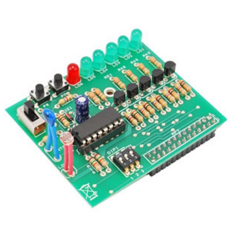 Shield demoboard Raspberry PI analogico-digitale per tutorial RASPBOOK1