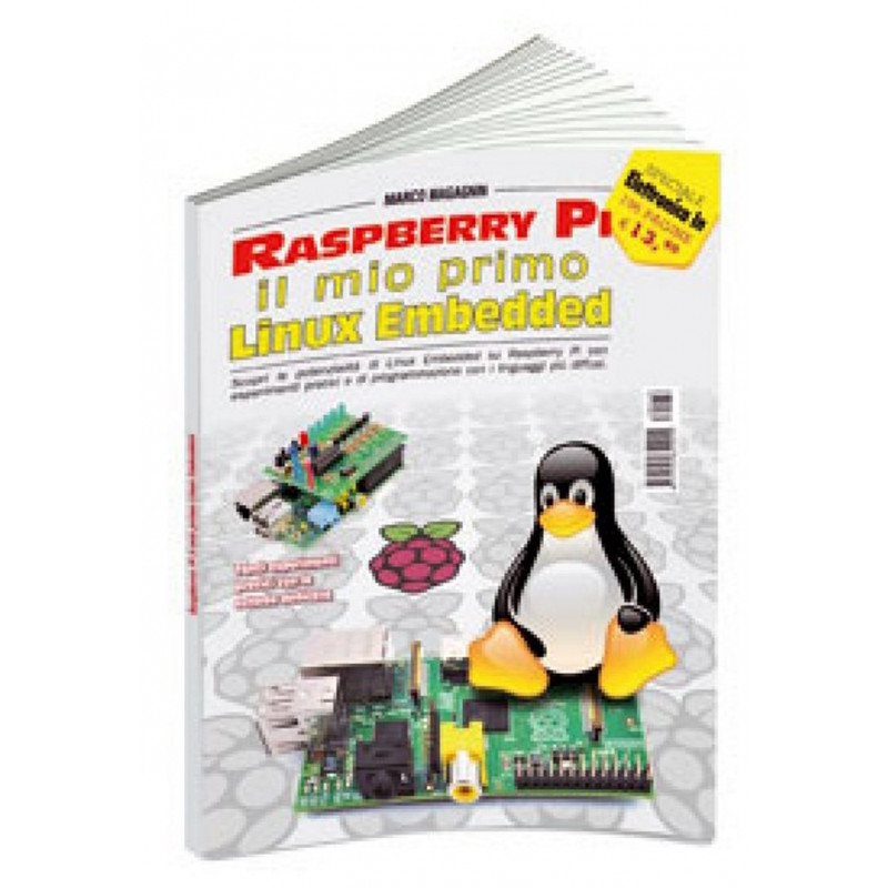 """Libro """"Raspberry PI, il mio primo Linux embedded"""" tutorial RASPBOOK1"""