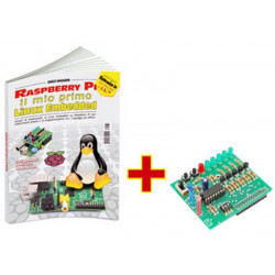 "Buch ""Raspberry PI ... erstes eingebettetes Linux"" + Shield FT1060M Tutorial RASPBOOK1"