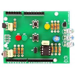 MONTATO Shield ArdIR con TX RX infrarossi telecomando universale per Arduino