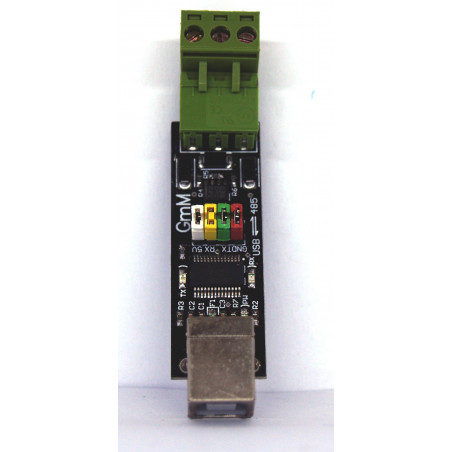 Self-powered USB RS485 converter with automatic switching