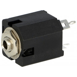 Jack 3.5mm female mono straight socket for THT panel