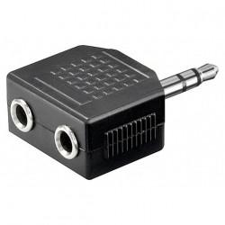 Adaptador divisor estéreo Jack Audio de 3,5 mm 1 macho - 2 hembra