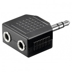 Jack Audio 3.5mm Stereo Splitter Adapter 1Male - 2Female