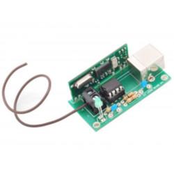 KIT Ricevitore USB decoder per radiocomando 2262, HT12, Motorola 433,92MHz
