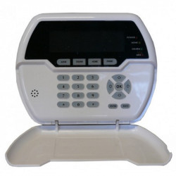 Wireless display keypad for remote control of Defender burglar alarm units