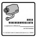 Adesivo area videosorvegliata in PVC obbligatorio per impianti CCTV