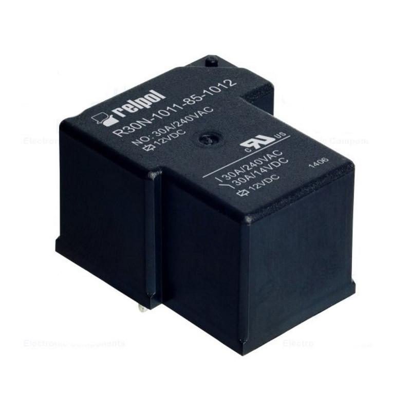 Relè elettromagnetico bobina 12VDC SPDT 30A 240VAC 14VDC