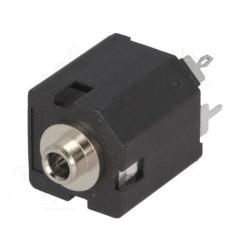 Jack 3,5 mm mono femelle avec interrupteur droit pour panneau THT