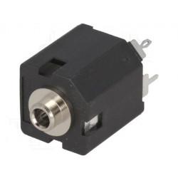 Jack 3.5mm female mono with straight switch for THT panel