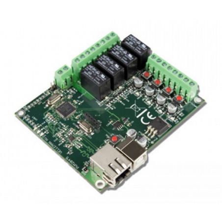 Interfaccia Ethernet LAN output 4 relè input 4 digitali 1 analog WEB e APP VM204