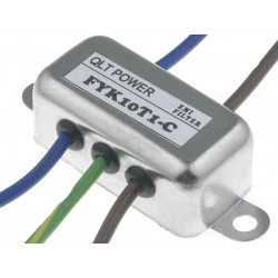 EMI 250V 10A anti-interference mains filter with terminals on electric cable