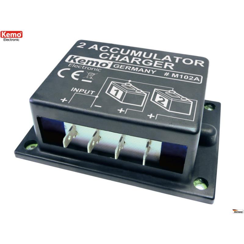 Caricabatteria per doppia batteria piombo 6V 12V 24V 10-20A equalizzato
