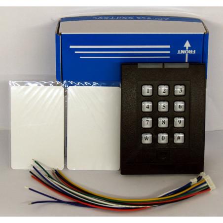Serrure électronique de lecteur RFID avec mot de passe - prend en charge jusqu'à 2000 utilisateurs - 2 cartes RFID sans fil incl