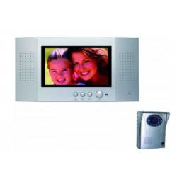 """Videcitofono a colori schermo piatto LCD 7"""" due fili Electraline 59224"""