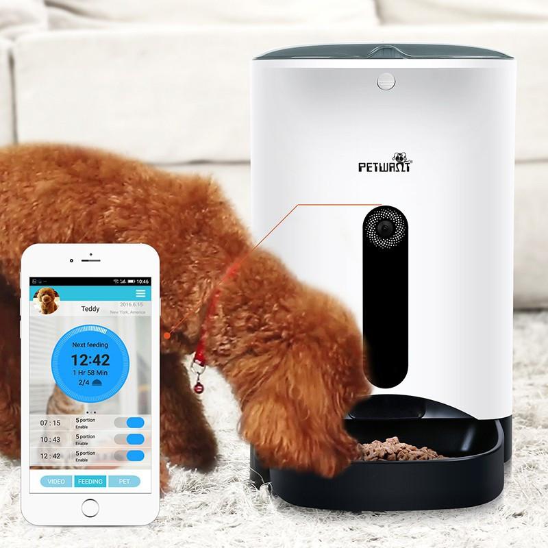Erogatore dispenser di cibo per animali con controllo da remoto APP smartphone