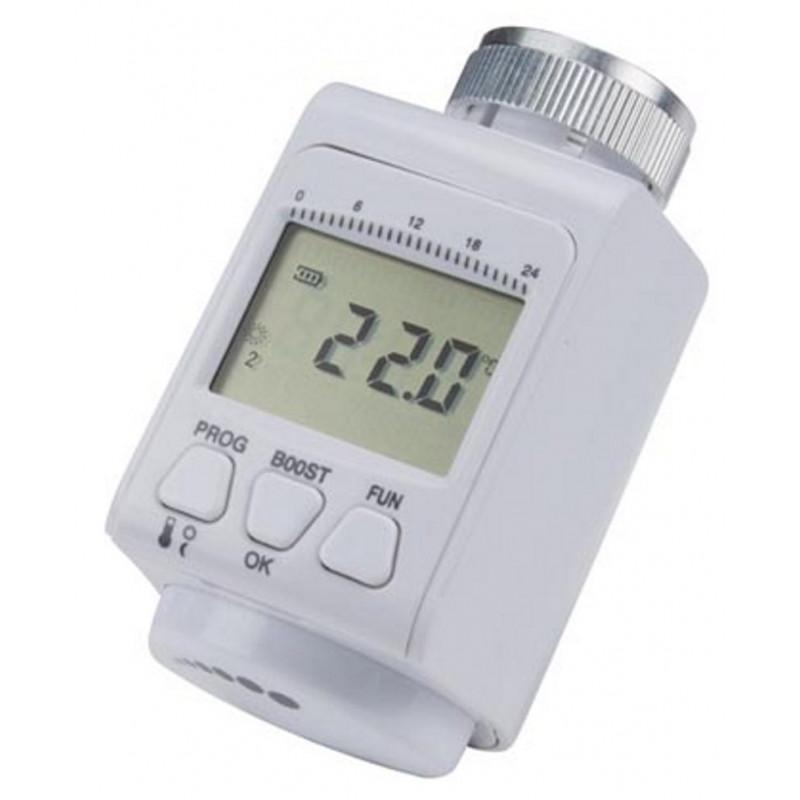 Testina termostatica crono termostato display digitale per radiatori a batteria