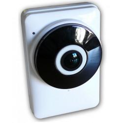 Mini cámara de audio HD de 2 vías IP WiFi Vista panorámica de 180 grados y APLICACIÓN para teléfono inteligente