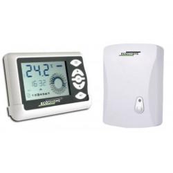 Kit monozona Cronotermostato wireless settimanale da parete EcoDHOME WMTE-701