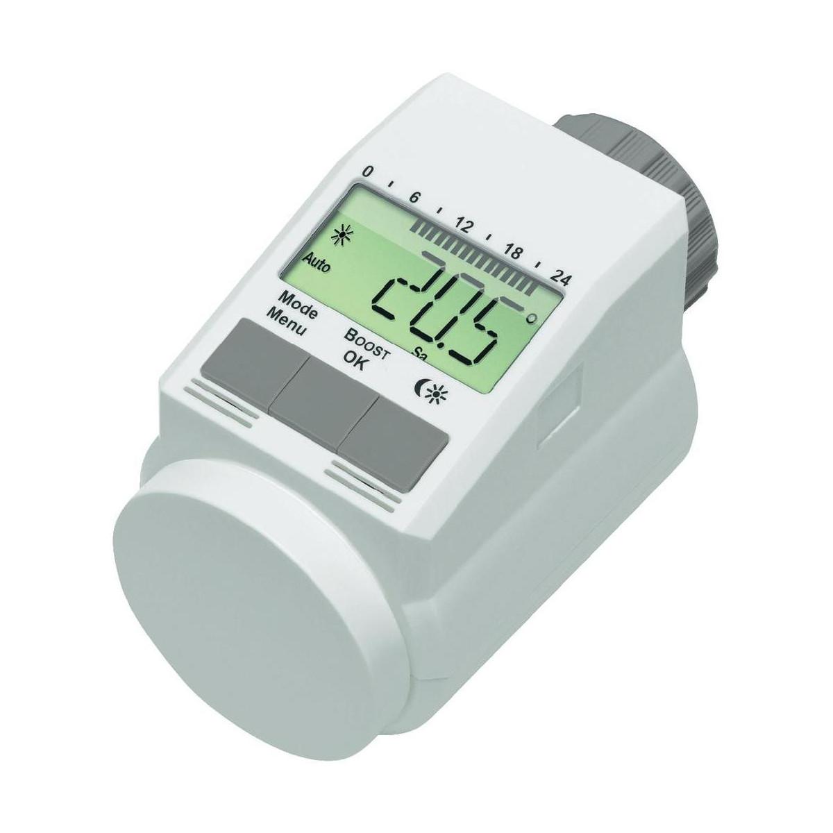Testina termostatica l digitale crono termostato radiatore for Testina termostatica