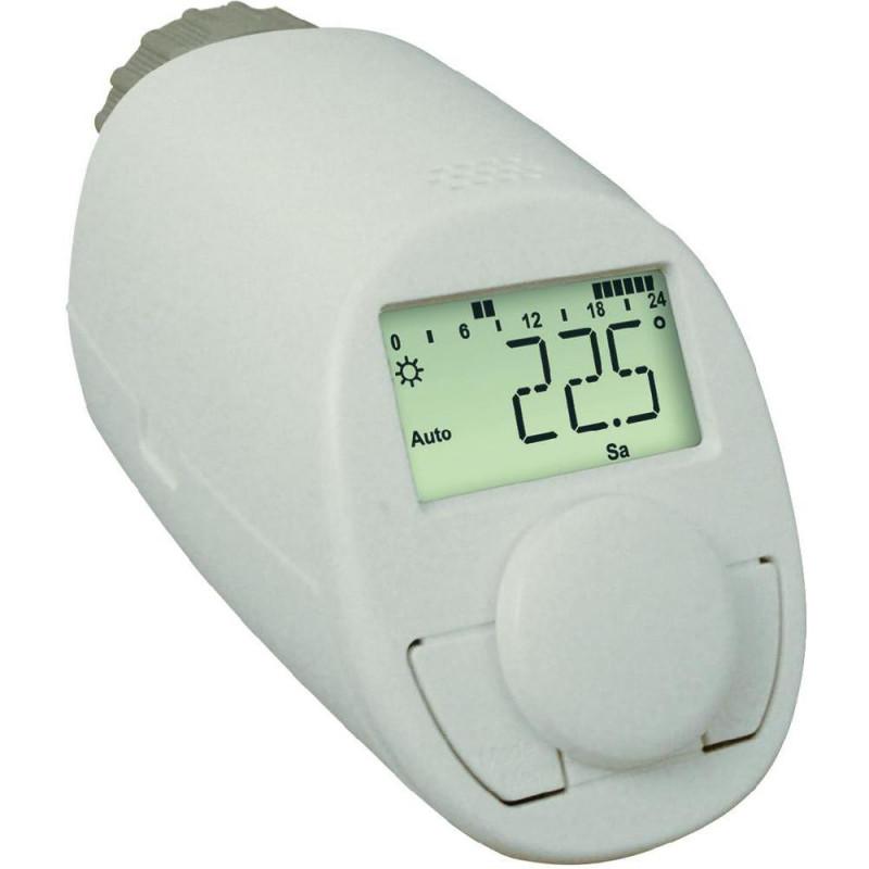 Testina termostatica N digitale crono termostato radiatore display LCD batteria