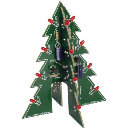 KIT Electronic Christmas tree 16 LED flashing 3D 9-12V DC