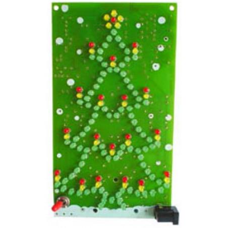MONTATO Albero Natale lampeggiante 134 LED a batteria o alimentazione 9-12V