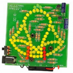 ASSEMBLED Animated bell with 83 flashing LEDs with 9-12V Battery