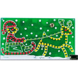 MOUNTED Santa Claus on sleigh animated 126 LED battery circuit 9 12V DC