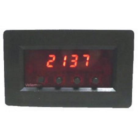 Modulo contatore impulsi pannello 9-12V DC due ingressi UP DOWN uscita allarme