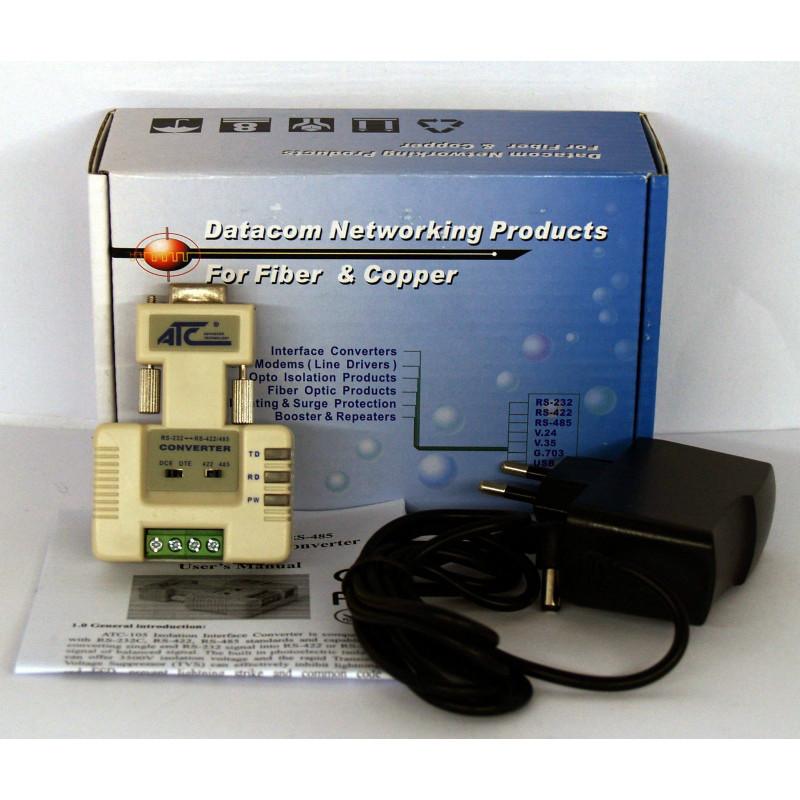 Convertitore RS232-RS422/RS485 ATC-105 con isolamento galvanico