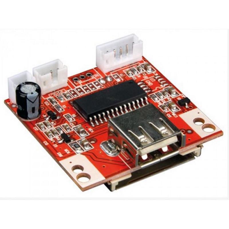 Modulo riproduttore MP3 JUKEBOX SD card + USB miniaturizzato uscita audio stereo